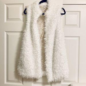 White fur vest  so soft!
